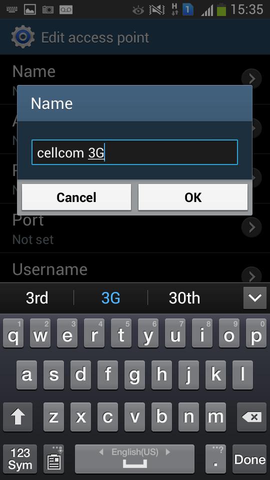 Cellcom Israel Android APN settings
